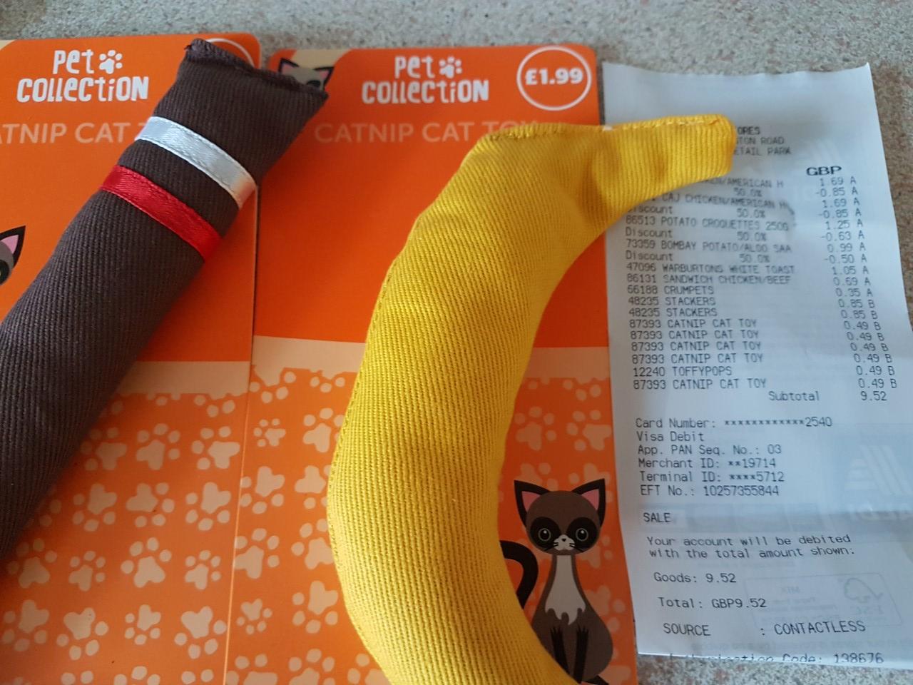 cat nip cat toy - 50p instore @ ALDI (Coventry)