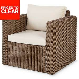 Soron Rattan Effect Armchair was £125 now £75 Delivered / C+C @ B&Q  - More in OP inc Bacopia Metal 6-8 seater Extendable Dining Table £150