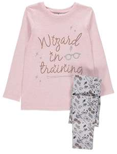 Harry Potter Pink Slogan Top and Leggings Outfit £6 (was £11) @ Asda free c+c