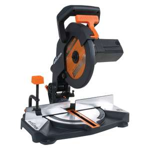 Evolution Power Tools R210CMS Multi-Purpose Compound Mitre Saw, 210 mm (230 V)  £53.99 delivered @ Amazon