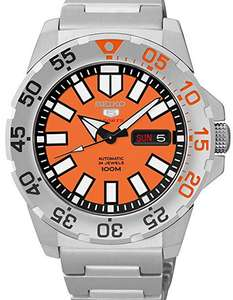Seiko 5 Orange Mini Monster  Watch - £140 - Sold by Watch Nation / Fulfilled by Amazon - With Free Returns And Next Day Delivery With Prime