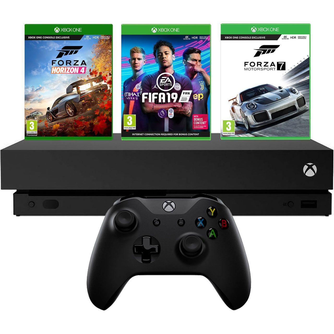 Xbox One X With FIFA 19, Forza Horizon 4 and Forza Motorsport 7 - £399 @ AO