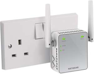 NETGEAR N300 MBPS Universal Wi-Fi Booster and Range Extender with External Antennas £15.99 @ amazon (+ £4.49 non Prime)