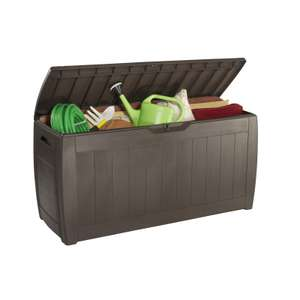 Keter Hollywood Garden Storage Box 270L Brown £16.96 / Keter Wall Mounted Tool Rack £6.33 @ Homebase (free c+c - limited stock)