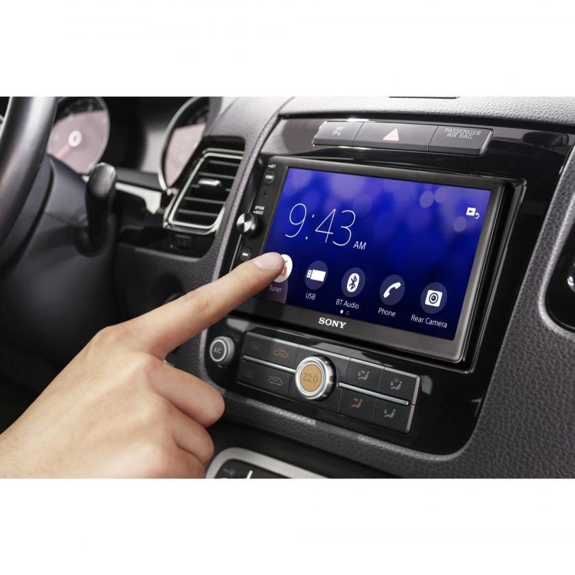 Sony XAV-AX100 6.4-Car Stereo with Apple CarPlay & Android Auto - £200 @ Halfords