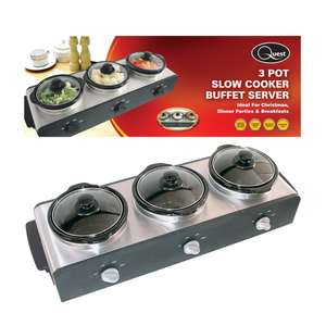QUEST Round Triple Slow Cooker Buffet Server - £34.99 delivered w/code @ TJ Hughes