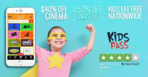 Kids pass - 30 day trial (45 days with wuntu code) just £1 is back in time for half term (Keep those kids occupied for less)