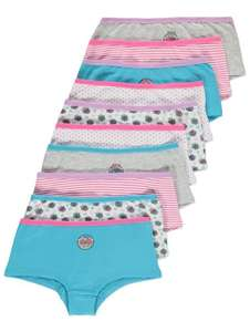 10 pairs girls Pug Print Shorts age 10-11, 11-12 yrs now £4 = 40p a pair @ Asda C&C