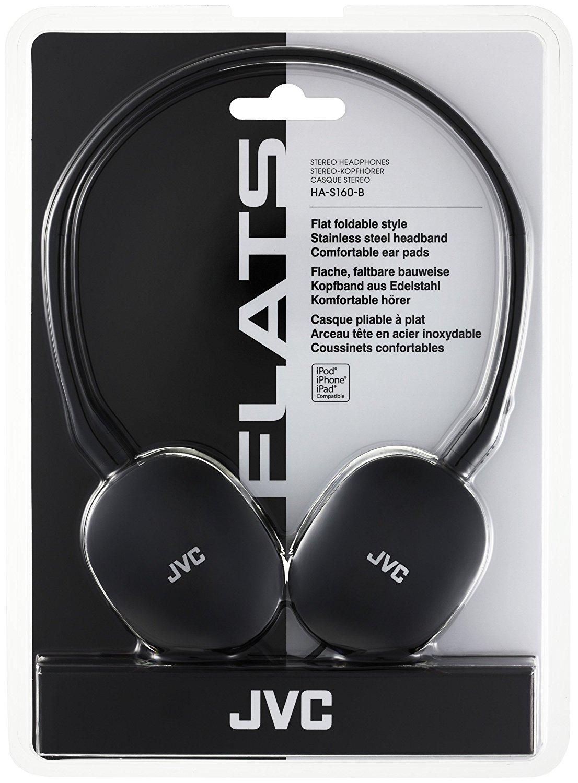 JVC HA-S160-B headphones Flats black wired reduced - Asda instore - £8