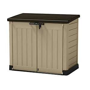 Keter Store It Out Max Plastic Garden & Wheelie Bin Storage Beige & Brown - 4 X 5 Ft (1200L) now £98 Delivered @ Wickes