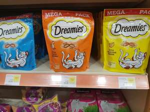 180g dreamies mega pack £1.50 instore at Pets At Home