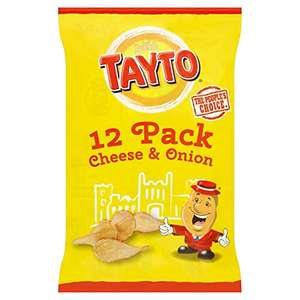 Tayto Cheese and Onion 12 packs £1.49 instore @ Home Bargains