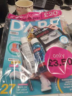 DARE winter magazine with £20 of free products £3.50 at WH Smiths instore