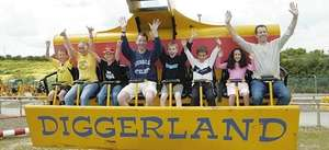 £11.98 instead of £23.95 per person when booked in advance for 16th - 24th February half term at Devon, Kent, Durham & Yorkshire Diggerland