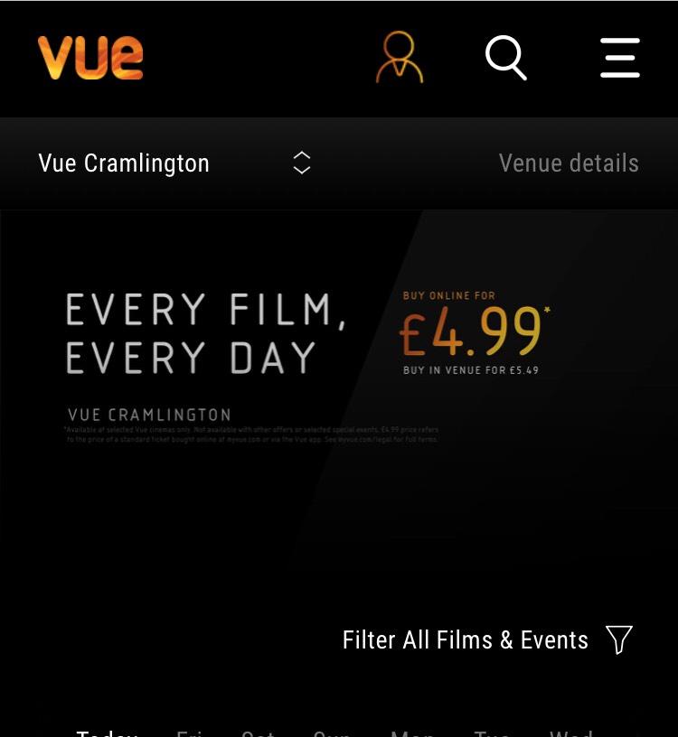 Vue Cramlington - Every Film / Every Day - £4.99