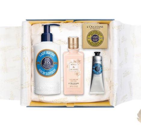 4 L'Occitane favourites in a signature gift box for £42 @ L'Occitane