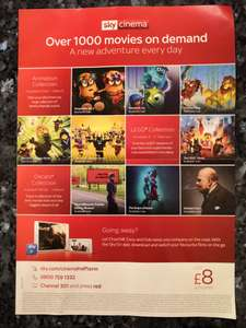 Sky Cinema £8 per month for 18 months / £144