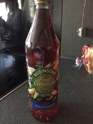 Robinsons Pear and blueberry creations 1L now 2 for £1 instore at Heron Foods