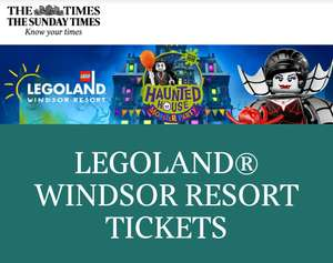 The Times Legoland Ticket Offer - 2 tickets for £20