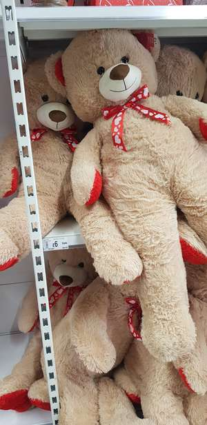 Valentine's big teddy bear - Half price instore @ ASDA - £6