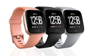 Fitbit Versa Health and Fitness Sports Watch in Choice of Colour With Free Delivery £134.99 @ Groupon