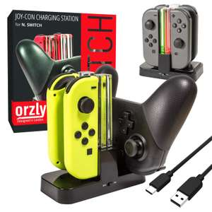 Nintendo Switch Joy-con & Pro controller charger £7.99 dispatched and sold by Orzly @ Amazon