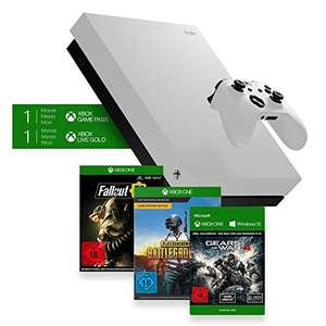 Xbox One X (White) + Fallout 76 + PUGB + Gears of War 4