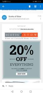 20% off at Scott's Of Stow