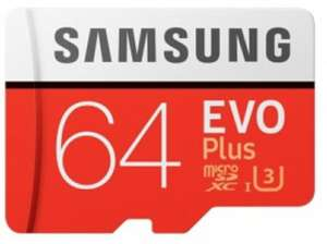 Samsung EVO Plus Micro SDXC UHS-I Card with Adapter - 64GBFor £9.99 Delivered @ Picstop