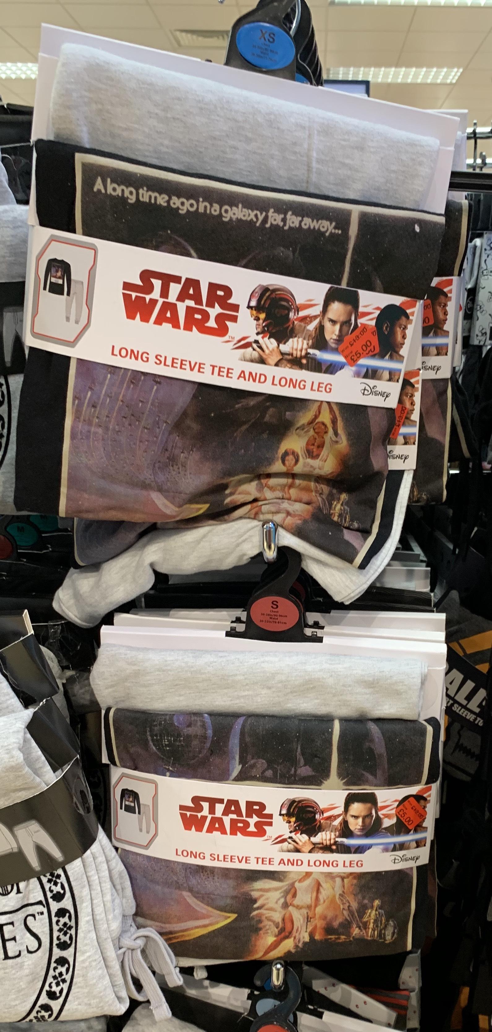 Stars Wars long sleeve pyjama set £5 (was £13) @ Primark in store