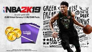 Twitch Prime: NBA 2K19 - MyTEAM Packs(Xbox One & PS4 & Switch & PC) & Virtual Currency for Free @ Twitch