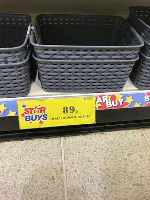 Small storage baskets at Home Bargains / Quality Save instore for 89p