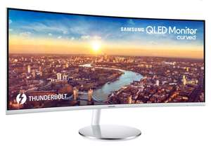Samsung Curved Monitor LC34J791 34-Inch LED - Thunderport Option- White/Silver at Amazon £409