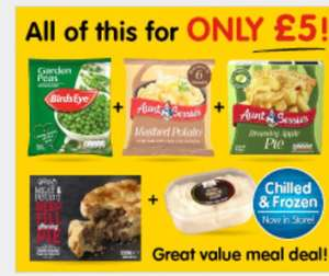 £5 frozen meal deal @ B&M Stores