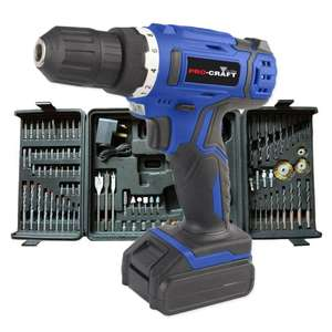 Pro-Craft by Hilka 18V Li-Ion Cordless Drill with 89-piece Accessory Kit - £29.74 w/code @ Robert Dyas
