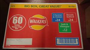 Walkers Crisps - Box Of 60 x 25g Packs For £7.19 At Costco