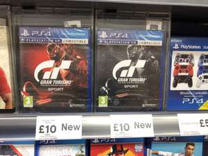 Gran turismo sport ps4 (day one edition as well) £10 at Tesco