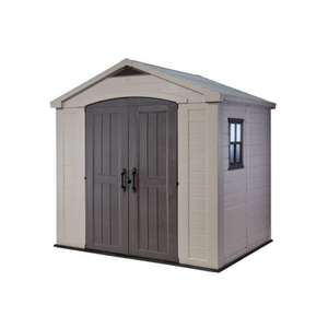 Keter  Factor 8x6 plastic Outdoor Garden Storage Shed £509.15  at  Homebase