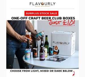 10 Premium Craft Beers (Light Box) £10 + £5.95 delivery @ Flavourly