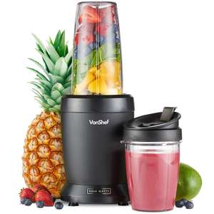 VonShef 1000W UltraBlend Personal Blender Smoothie Maker Includes 800ml and 500ml Cups £19.74 @ Amazon DOTD Sold And Dispatched By Domu UK