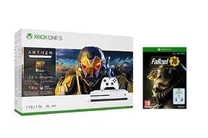 Xbox One S 1TB + Anthem Legion of Dawn Edition + Fallout 76 + 1 Month Xbox Live + 1 Month Game Pass + 1 Month EA Access £199.99 from Amazon
