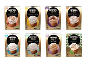Nescafe Gold 8 Sachet Varieties - Any 2 for £2.50 (£1.25 each) @ Tesco (from 20/02)