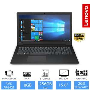 "Lenovo V145 15.6"" Laptop AMD A9-9425, 8GB, 256GB SSD, Radeon 2GB, £323.99 @ LaptopOutletDirect/ebay"