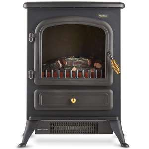 VonHaus Electric Stove Heater with Log Burner Flame Effect – 1850W Freestanding Fireplace £39.99 @ amazon sold by DOMU UK.