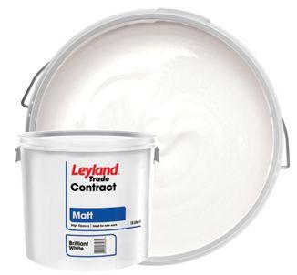Leyland Trade Contract Matt Emulsion Paint - Brilliant White 15L for £13 @ Wickes (Free C&C)