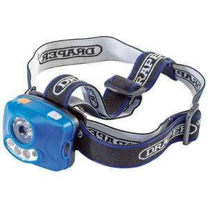 Draper LED Headlamp W/ Batteries Included £3.98 @ MachineMart (Free Click & Collect From Your Local Store)