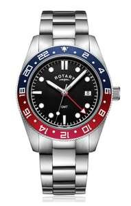 Rotary Black Dial Pepsi Mens Stainless Steel GMT Watch - £89.99 @ Argos (Free C&C)