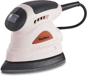 VonHaus Detail Palm Sander Rose Gold - Dust Extraction Port - Multi Use 130w £11.99 (+£4.49 nonprime) sold by DOMU uk FBA