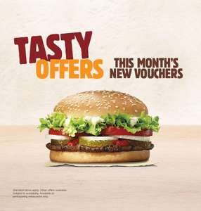 Whopper Wednesday (£1.99) and more offers @ Burger King App