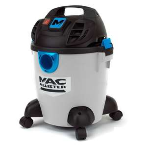 Mac Allister Corded 16L Bagged Wet & Dry Vacuum £35 @ B&Q (Free C&C - Also 20L for £45)